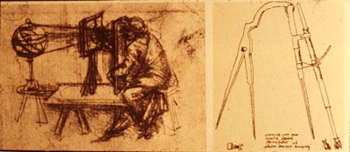 カメラ・オブスクラが絵画制作に活用されたのは15世紀頃 レオナルド・ダ・ヴィンチ