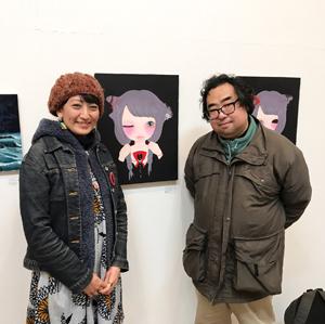 「X'mas ACT ARTIST EXHIBITION」展示 ninko ouzouさん