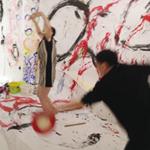 万城目さん&相良さんの「ホワイトダイス」とkisaiさんのアートコラボ