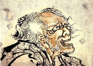 浮世絵師、葛飾北斎が82歳(数え年83歳)だった頃の自画像