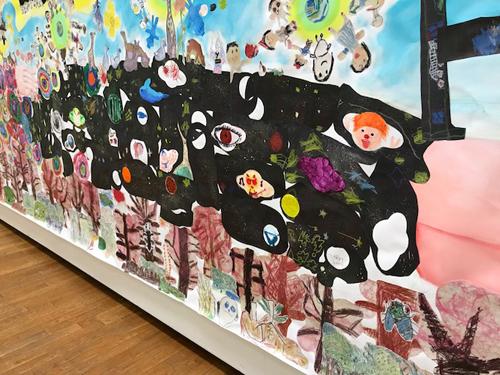 「生命の壁画 2018」ninko ouzou (ハート18)