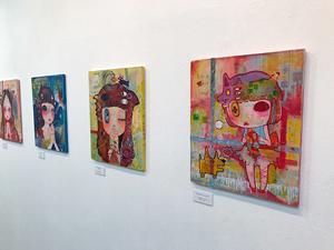 ninko ouzou画展「抒情媒体」(2018年10月23日〜28日、四谷ACT)