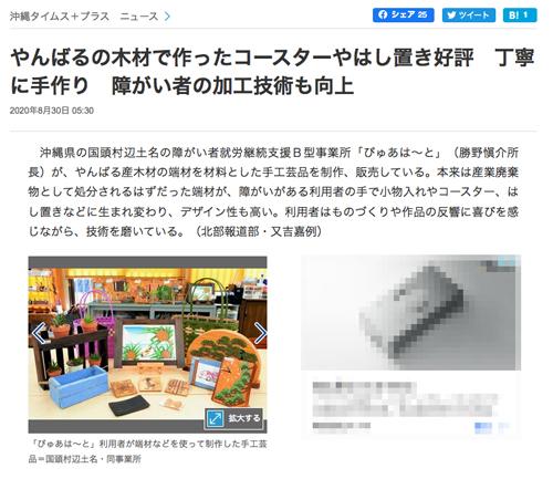 やんばる産の端材で手工芸品を制作する沖縄県の「ぴゅあは~と」 障害者関連の話題005