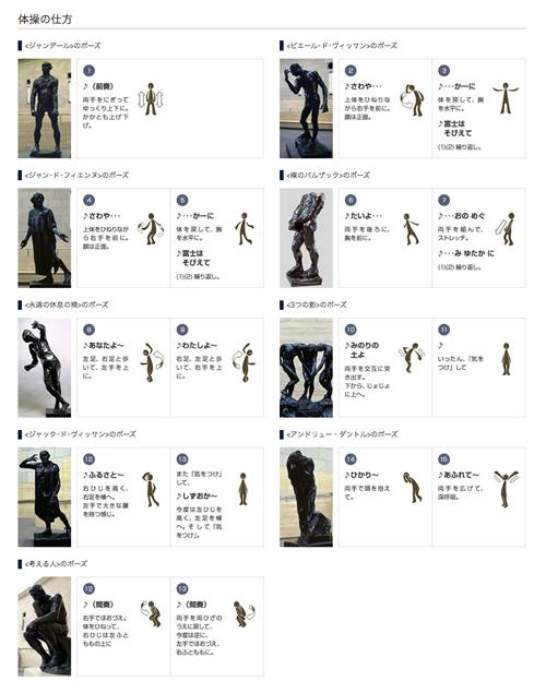 「ロダン体操」体操の仕方(静岡県立美術館)
