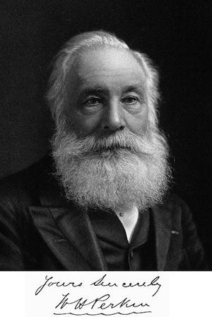 ロンドン出身の化学者、ウィリアム・パーキンが人工染料「モーブ」を発見