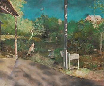 「FACE 2020」 受賞作品『女狩人のごちそう』齋藤詩織(油彩・キャンバス、162×194cm)